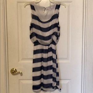 Blue/white stripe Charming Charlie dress, small